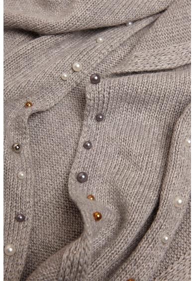 Oltre Fular din amestec de lana, cu aplicatii din margele Femei