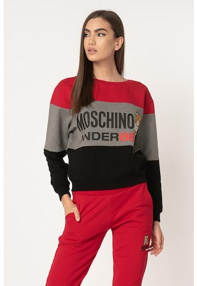 Moschino Bluza sport de casa, cu model colorblock Femei