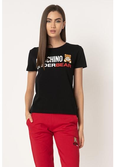 Moschino Tricou de casa cu logo cauciucat Femei