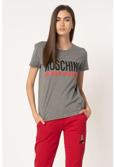 Moschino Tricou de casa cu imprimeu logo Femei