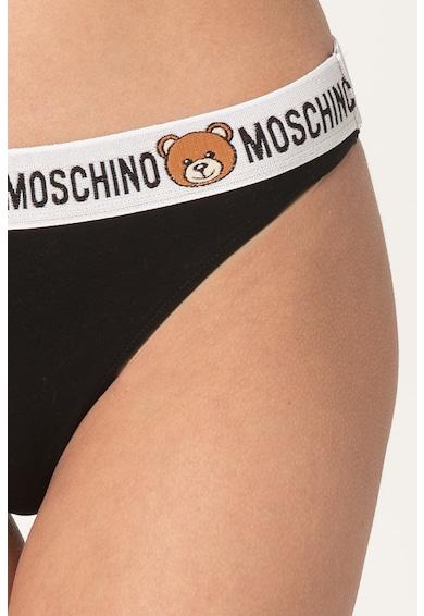 Moschino Chiloti tanga cu banda logo elastica in talie Femei