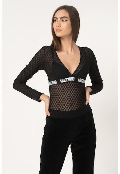 Moschino Body transparent de plasa, cu model fagure Femei