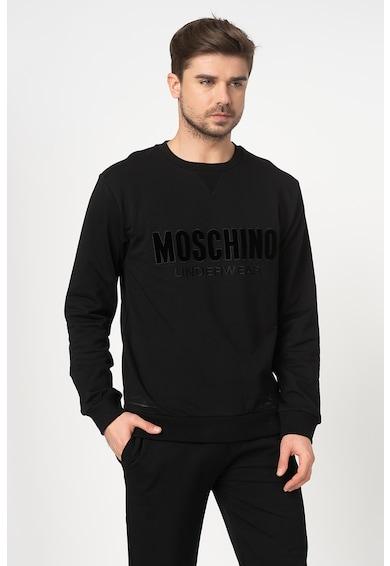 Moschino Bluza sport de casa cu aplicatie logo catifelata Barbati
