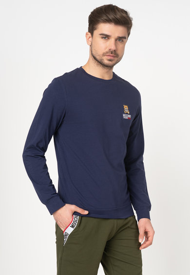 Moschino Bluza de casa cu logo brodat Barbati
