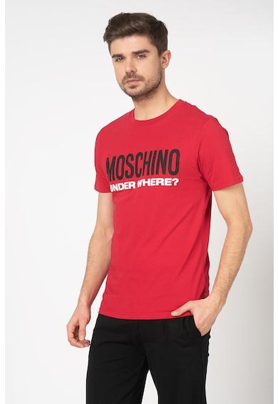 Moschino Tricou de casa cu aplicatie logo cauciucata Barbati