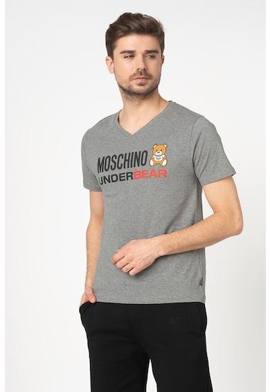 Moschino Tricou de casa cu decolteu in V Barbati