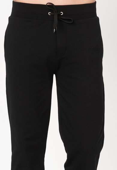 Moschino Pantaloni sport de casa, cu logo brodat Barbati