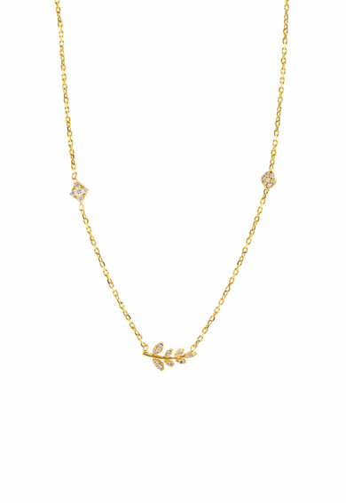 Loisir by Oxette Colier de argint placat cu aur de 18k, cu pandantive Femei