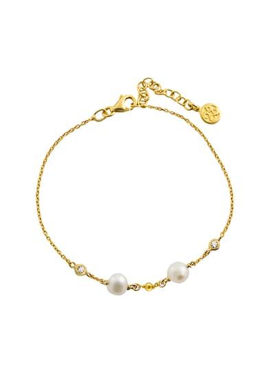 OXETTE Bratara placata cu aur de 18K si decorata cu perle de cultura Femei