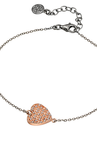 OXETTE Bratara placata cu aur de 18K si ruteniu, decorata cu cristale Femei