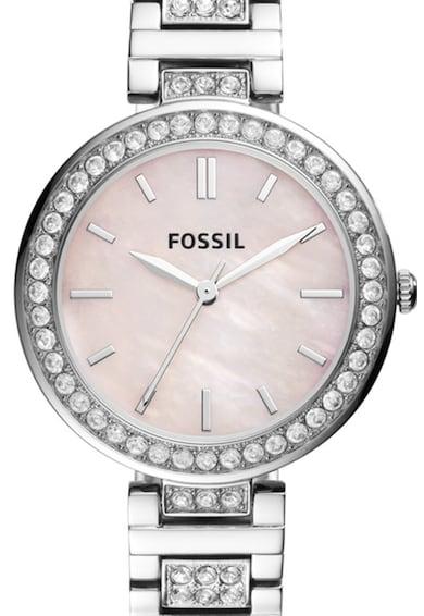 Fossil Ceas rotund decorat cu cristale Femei