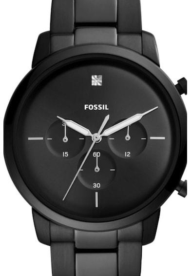 Fossil Часовник с верижка от инокс и хронометър Мъже