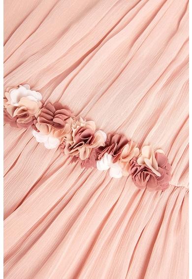 NEXT Rochie maxi vaporoasa, cu aplicatii florale Fete