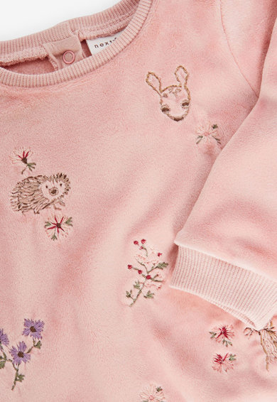 NEXT Set de pulover si colanti cu broderie Fete
