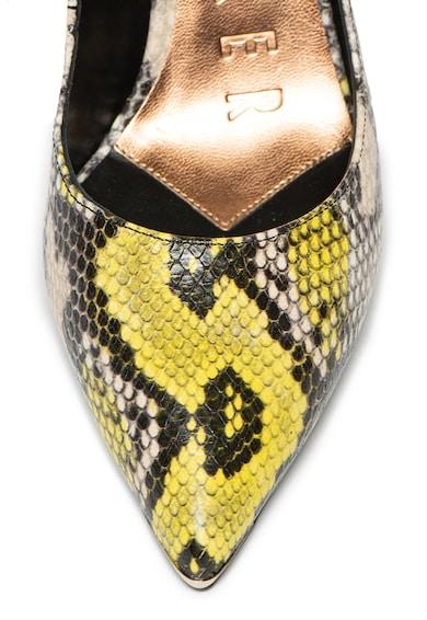 Ted Baker Pantofi de piele cu model reptila Erinss Femei