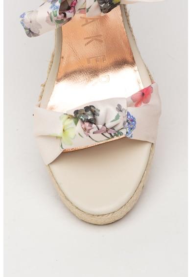 Ted Baker Sandale tip espadrile cu talpa wedge si imprimeu floral Kelispe Femei
