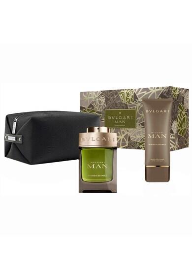BVLGARI Set  Man Wood Essence, Barbati: Apa de Parfum, 100 ml + After shave balsam, 100 ml + Geanta Barbati