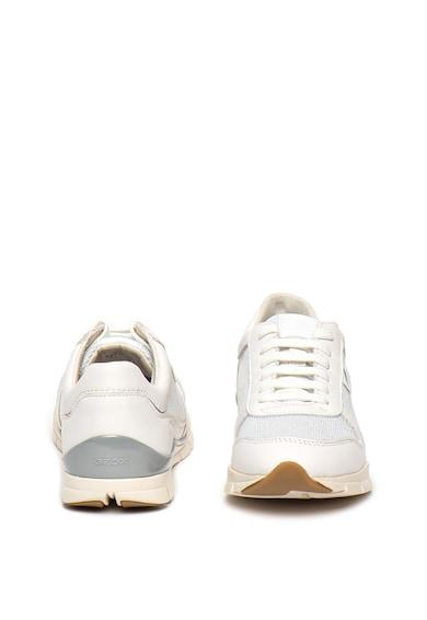 Geox Pantofi sport din piele si piele intoarsa Sukie Femei