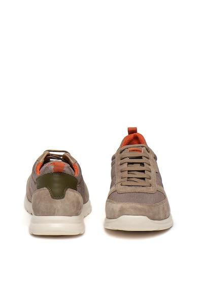 Geox Pantofi sport cu garnituri din piele intoarsa Damian Barbati