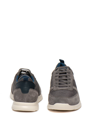Geox Pantofi sport din piele intoarsa si plasa Damian Barbati