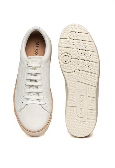 Geox Pantofi sport din piele cu detaliu contrastant Ariam Barbati