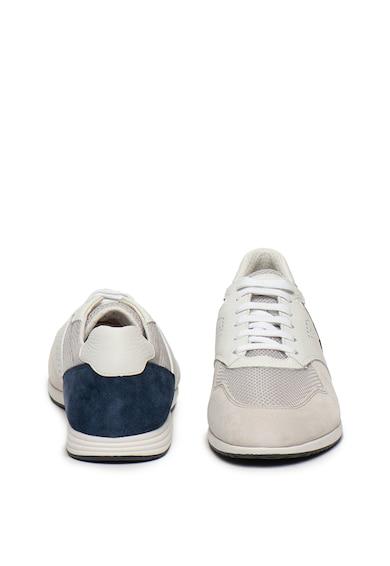 Geox Pantofi sport din piele si piele intoarsa, cu garnituri din plasa Arsien Barbati