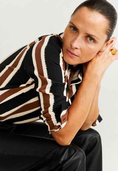 Mango Camasa cu model abstract Nans Femei
