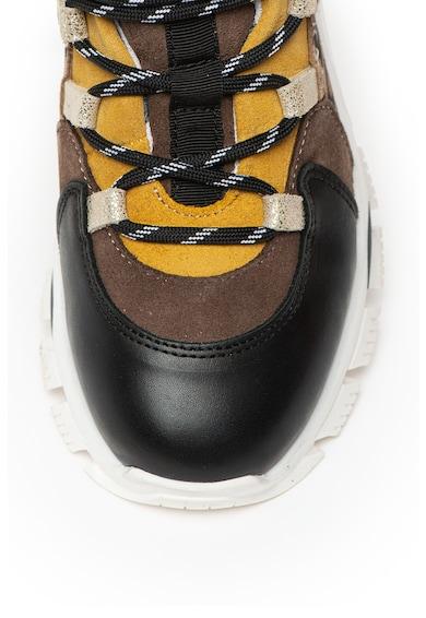 Bullboxer Pantofi sport din piele, cu model colorblock Femei