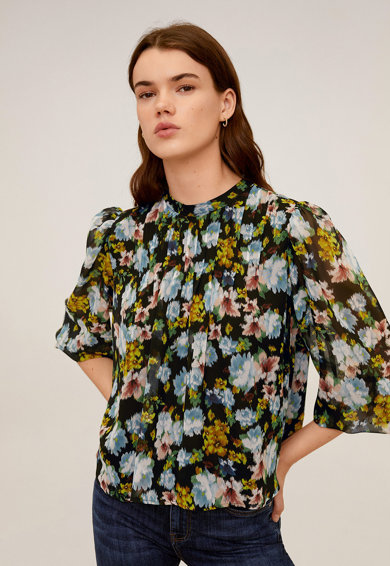Mango Флорална блуза Poma Жени