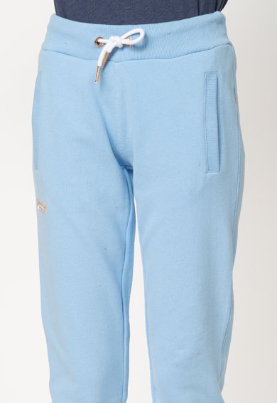 SUPERDRY Pantaloni sport cu logo brodat Orange Elite Femei