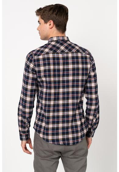 SUPERDRY Camasa regular fit, din flannel, cu model in carouri Barbati
