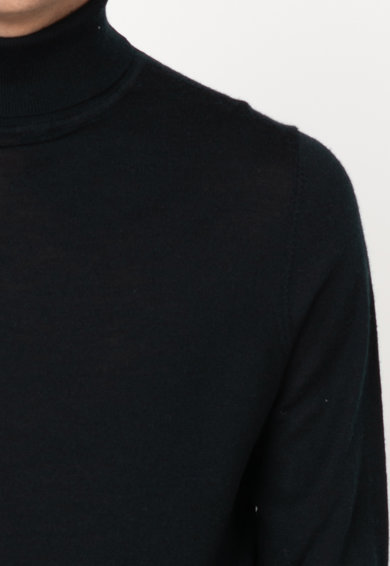 SUPERDRY Pulover cu guler inalt, din lana Merinos Barbati