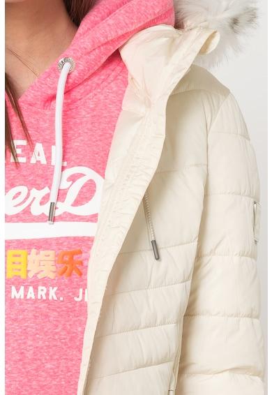 SUPERDRY Geaca cu vatelina si parti laterale transparente Luxe Fuji Femei