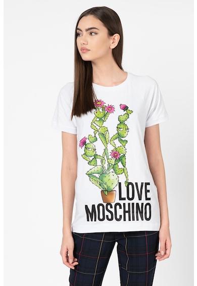Love Moschino Tricou din jerseu cu imprimeu grafic Femei