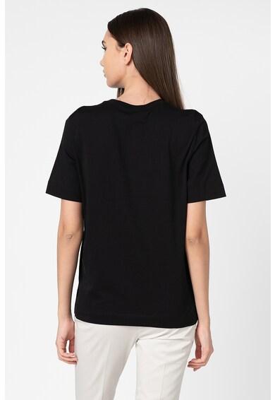 Love Moschino Tricou cu imprimeu grafic, logo si decolteu la baza gatului Femei