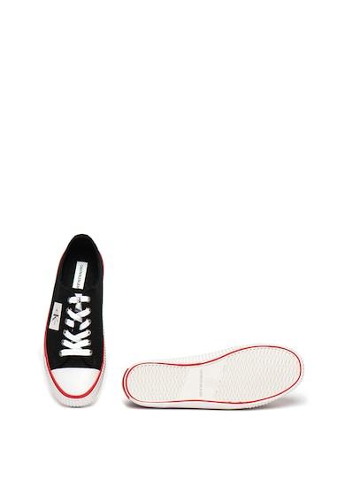 Calvin Klein Jeans Tenisi cu aplicatie logo Ivory Femei