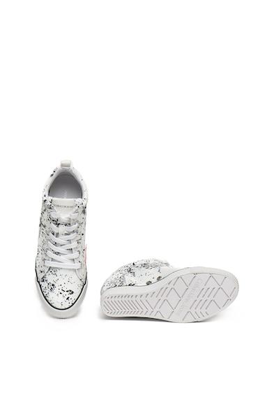 Calvin Klein Jeans Pantofi sport cu talpa wedge ascunsa si imprimeu abstract Ritzy Femei