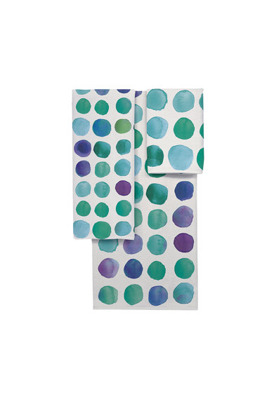 AGLIKA Set 3 prosoape Geomertic Blue  30x50 / 50x100 / 70x140 cm, bumbac+microfibra Femei