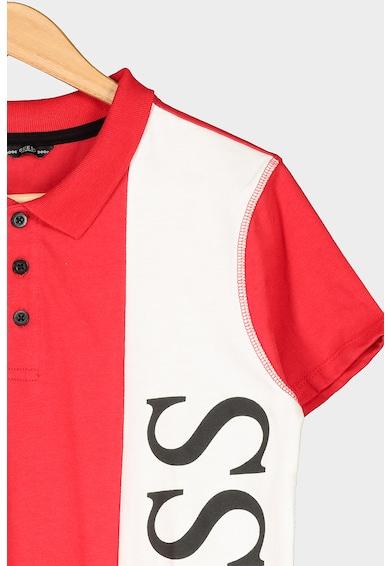 GUESS JEANS Tricou polo cu imprimeu logo Baieti