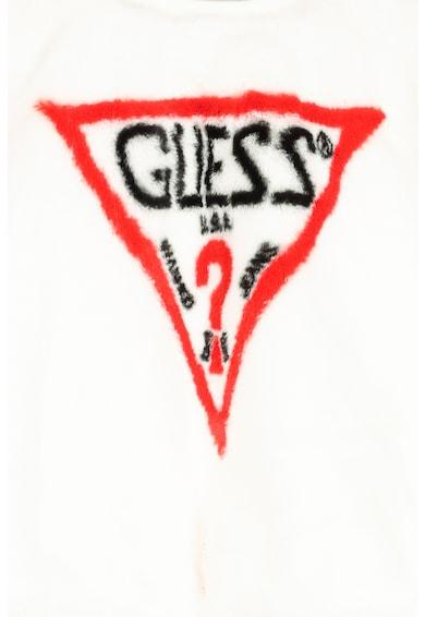 GUESS JEANS Bluza sport din material teddy cu imprimeu logo Fete