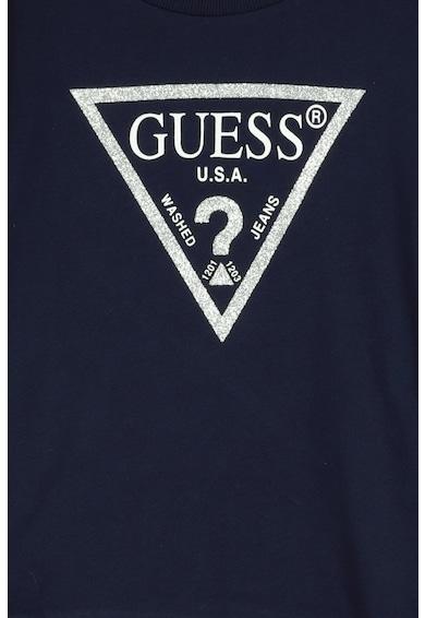 GUESS JEANS Bluza sport cu imprimeu logo stralucitor Fete