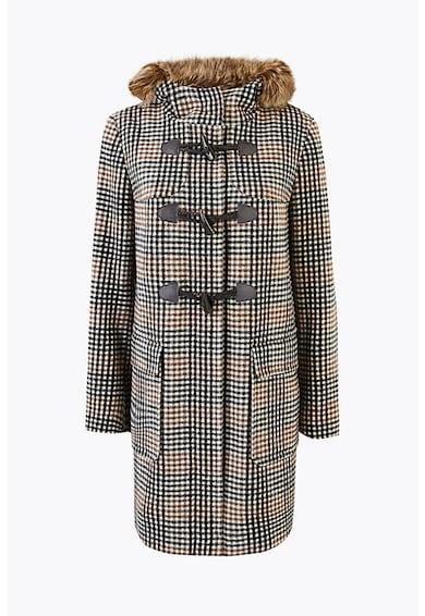 Marks & Spencer Haina duffle din amestec de lana cu garnitura de blana sintetica Femei
