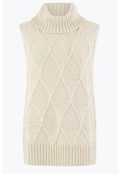 Marks & Spencer Pulover din amestec de lana, fara maneci Femei