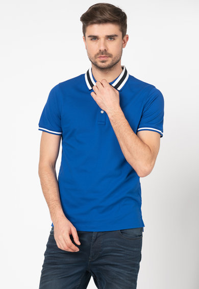 Tommy Hilfiger Tailored Tricou polo slim fit cu guler cu dungi Barbati