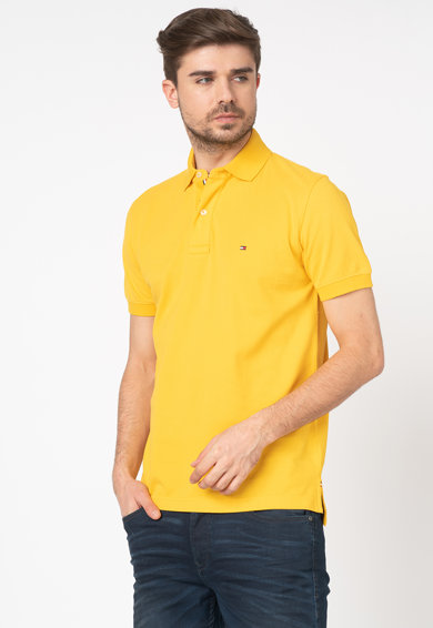 Tommy Hilfiger Tailored Tricou polo regular fit din material pique MW0MW11621-TBY- Barbati