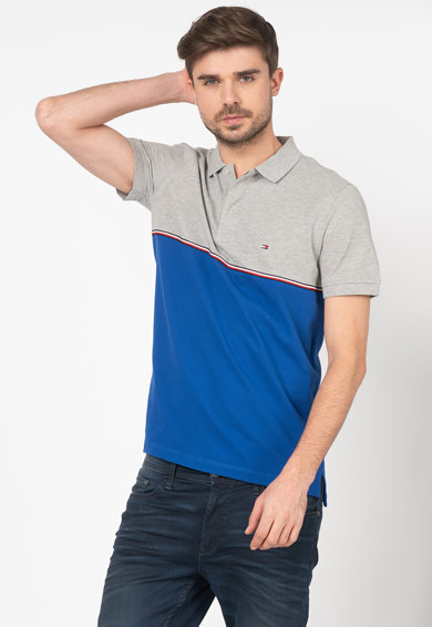 Tommy Hilfiger Tailored Tricou polo regular fit cu model colorblock Barbati
