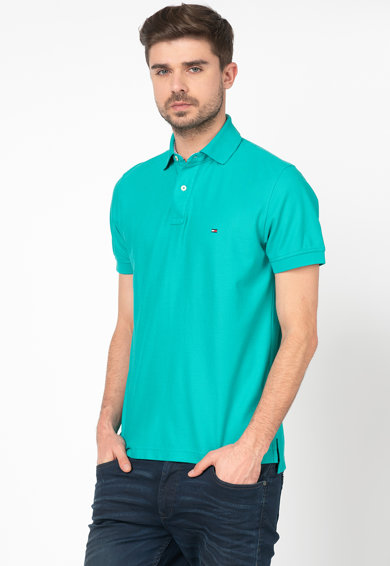 Tommy Hilfiger Tailored Tricou polo regular fit din material pique Barbati