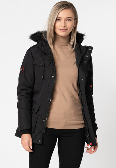 Geographical Norway Geaca cu garnitura detasabila de blana sintetica Baligraph Femei
