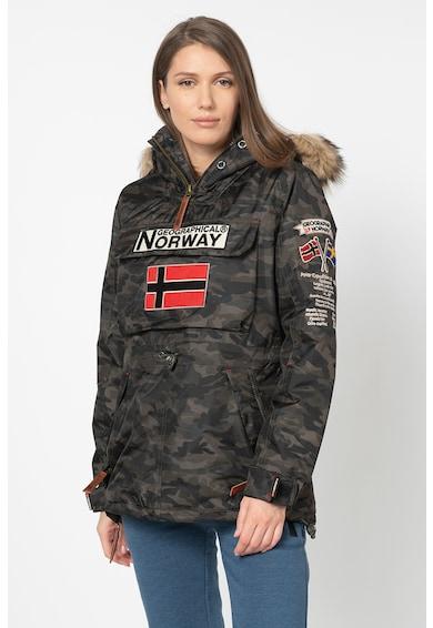 Geographical Norway Geaca fara inchidere, cu imprimeu camuflaj Boomera Femei