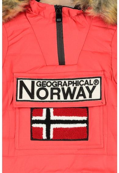 Geographical Norway Geaca fara inchidere, cu gluga Belinda Fete